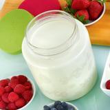 64 Oz Glass Jar with lid for Euro Cuisine YM260 - YM360 - YM460 Yogurt and Greek Yogurt Maker by Euro Cuisine in Clear