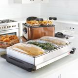 3-Section Buffet Server by BrylaneHome in Stainless Steel