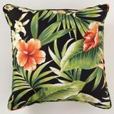 """16"""" Sq. Toss Pillow by BrylaneHome in Cypress Midnight"""