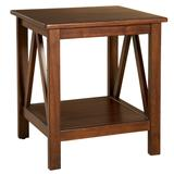 Traymore END TABLE ANTIQUE by Linon Home Dcor in Antique Tobacco