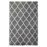 """Trellis Shag Rug by Home Dynamix in Gray Ivory (Size 8'WX10'2""""L)"""
