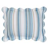Florence Sham by BrylaneHome in Blue Stripe (Size STAND)