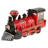 Hey! Play! Toy Train Locomotive Engine Car with Battery-Powered Lights and Sounds