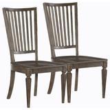 """Hooker Furniture 5820-75310-2PK Woodlands Set of (2) 21"""" Wide Vintage American Styled Wood Back Side"""