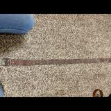 American Eagle Outfitters Accessories | American Eagle Studded Leather Belt! | Color: Brown | Size: Small