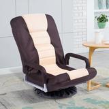 Latitude Run® 360 Degree Rotating Chaise Lounge Rocker Game Chair Foam Padding in Brown, Size 13.0 H x 22.0 W x 21.0 D in   Wayfair