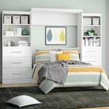 Beachcrest Home™ Marjorie Storage Murphy Bed Wood/Wood & Metal/Metal in White, Size 125.25 W x 64.6 D in | Wayfair AE888D1E51BC4A7091F9DD84F29A5D80