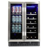 """Danby SBC051D1BSS 24"""" Two Section Wine Cooler w/ (2) Zones - 60 Bottle Capacity, 115v"""