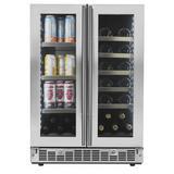 "Danby SPRBC047D1SS 24"" Two Section Wine Cooler w/ (2) Zones - 21 Bottle Capacity, 115v"