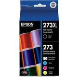 Epson 273XL/273 High-Capacity Black and Standard-Capacity Photo Black and Color C T273XL-BCS