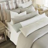 "Signature Stonewashed Belgian Linen Lumbar Pillow Cover Gray 14"" x 60"" - Ballard Designs"