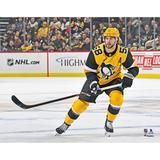 """Kris Letang Pittsburgh Penguins Unsigned Alternate Jersey Skating Photograph"""