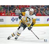 Evgeni Malkin Pittsburgh Penguins Unsigned White Jersey Skating Photograph