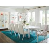 Lexington Avondale 9 Piece Extendable Dining Set Wood/Upholstered Chairs in Brown/White, Size 29.5 H in   Wayfair