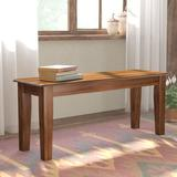 Winston Porter Dracen Dining BenchSolid + Manufactured Wood/Wood in Brown, Size 17.75 H x 42.5 W x 14.0 D in | Wayfair