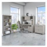 """Bush Echo Desk w Hutch, Mobile File, Lateral File and Bookcase 60"""" - ECH027GSSU"""