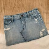 American Eagle Outfitters Skirts | American Eagle Vintage Denim Jean Skirt | Color: Blue | Size: 0