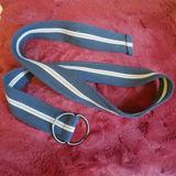 Urban Outfitters Accessories   3$20 Cotton Blue&Yellow Stripped Ring Belt   Color: Blue/Yellow   Size: Os