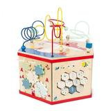 """""""Small Foot Wooden Toys XL 7-In-1 Iconic Motor Skills """"""""Move It!"""""""" Activity Center, Multicolor"""""""