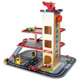 Small Foot Wooden Toys 3-Floor Parking Garage Playset, Multicolor