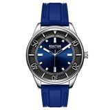 Kenneth Cole Reaction Mens Dress Sport Round Blue Silicon Strap Watch