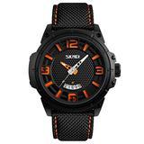 Black Sports Watch Fashion Men's Shock Watch Big Face Nylon Watch for Men Calendar Dress Wrist Watch