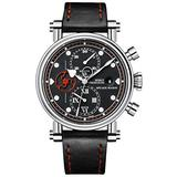 Speake Marin Seafire Chronograph, Black and Red Dial, Piccadilly Titanium Case Watch 20003-52