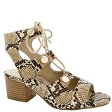 Penny Loves Kenny Women's Lace Up, Ankle High, Heel Heeled Sandal, Natural Faux Snake, 7