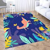 Vintage Area Rug,Shorping 3X5 Flower Door Area Rugs Modern Dinosaurs Collection Different Types of Prehistoric Animals Space Area Rug Rugs for Living Room Large Area Rugs Area Rug for Kids