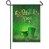 YATELI Yard Garden Flags 28x40 Inch St. Patricks Day 28 x 140 Double Sided Large St Patricks Day Burlap St Patrick's Day