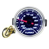 LUJUNTEC Car Motor Gauge Universal 2inch 52mm Turbo Boost Gauge Digital Style Smoke Tint Lens Face Automotive Gauge 0-35 PSI