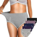 OLIKEME Women's Cotton Underwear,Soft Underwear Women Briefs,Ladies Comfort Breathable Underpants Panties Pack Multicolored,XXL