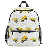 Tractor Excavator Backpack for Kids Girls Boys Trucks Bookbag Daypack with Chest Strap Mini Elementary School Bags Water Resistant Durable for School Student