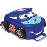 Toddler Boys Girls Backpack Waterproof Cartoon Truck Car Kindergarten Child Snack School Bag (Blue)