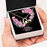 Remember I Love You Mom Forever Heart Necklace 18K Gold Gift For Women - Jewelry Necklaces For Mom From Daughter, Son Pendant Chain Mother's Day Present Idea - Free luxury box with Message Card P10-29