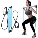 Pilates Bar Kit with Resistance Band, Yoga Pilates Stick Muscle Toning Bar with Foot Loop, Portable Home Gym Pilates Yoga Exercise Bar for Daily Total Body Workout