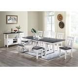 Milan Wooden Buffet with Storage, Gray/Gloss White