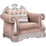 Acme Furniture Chair, Velvet & Antique Silver