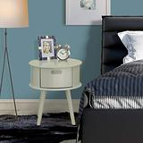 East West Furniture GONE14 one Piece Wonderful Gordon Round nightstand with Drawer, 1-Pack, in Urban Gray Finish