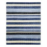 Solo Rugs Contemporary Hand Loomed Area Rug, 8x10, Blue