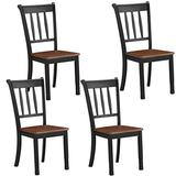 Giantex Solid Wood Whitesburg Dining Chairs, Set of 4, Spindle Back, Wood Seating, Hammis Dining Room Chairs, Suitable for Dining Room, Kitchen, Restaurant, Antique Dining Side Chairs (4, Black)
