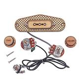 Finetoknow Cigar Box Guitar Pickup, 3 String Durable Musical Instrument Accessories for Music Lovers
