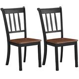 Giantex Solid Wood Whitesburg Dining Chairs, Set of 2, Spindle Back, Wood Seating, Hammis Dining Room Chairs, Suitable for Dining Room, Kitchen, Restaurant, Antique Dining Side Chairs (2, Black)
