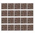 Metall Stil Brown-Mosaik-Quadrat-Fliese Peel and Stick Aufkantung Stock auf Fliesen für Küche-Raum-Wand-Abziehbilder (20Pcs / Set),8x8 inch