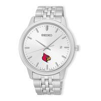 Louisville Cardinals Analog Quartz Stainless Steel Watch - Silver