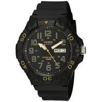 Casio Men's 'Diver Style' Quartz Resin Casual Watch, Color:Black (Model: MRW-210H-1A2VCF)