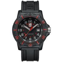 Luminox Mens Black Ops Carbon Watch Black Case & Strap Red 8895