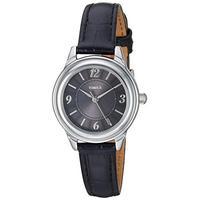 Timex Women's TW2R86300 Classic 26mm Black/Silver-Tone Croco Pattern Leather Strap Watch