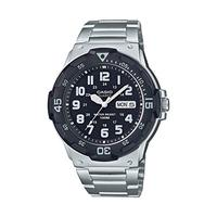 Casio Men's Diver Style Quartz Watch with Stainless Steel Strap, Silver, 23.8 (Model: MRW-200HD-1BVC