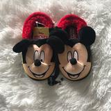 Disney Shoes | 3x20 Saledisney Mickey Mouse Slippers | Color: Black/Red | Size: Various